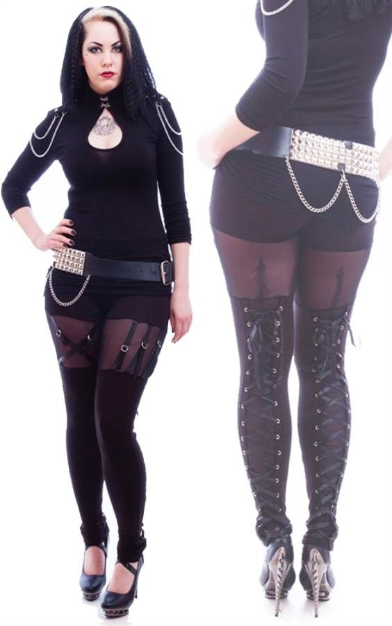 Necessary Evil Gothic Venda Strap Leggings