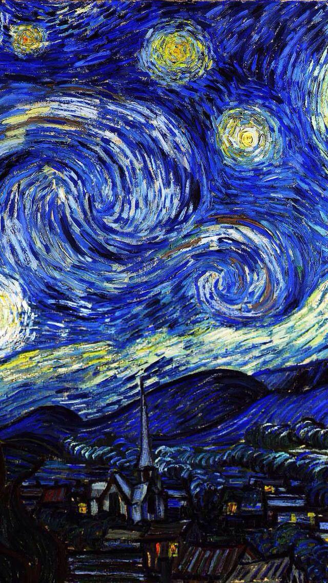 Starry Night Wallpaper...By Artist Unknown... Sfondi