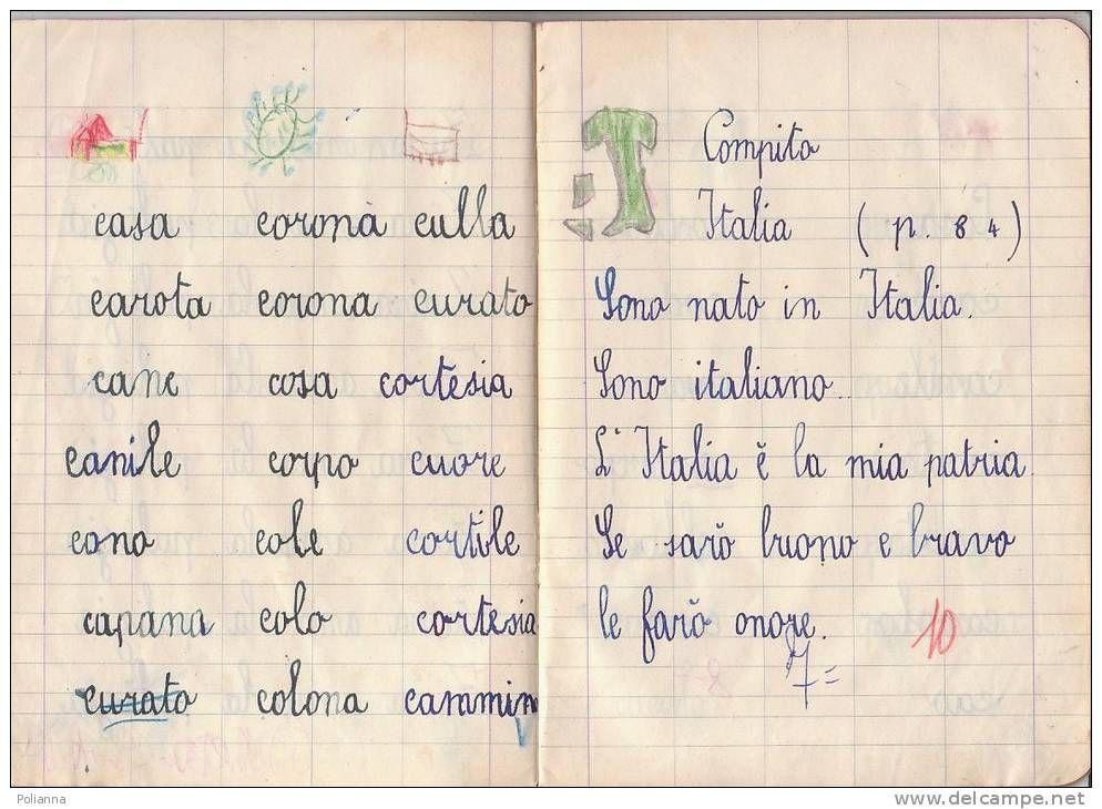 Estremamente Q006 QUADERNO SCUOLA ELEMENTARE 1955 - CALLIGRAFIA SCRITTURA  UB84