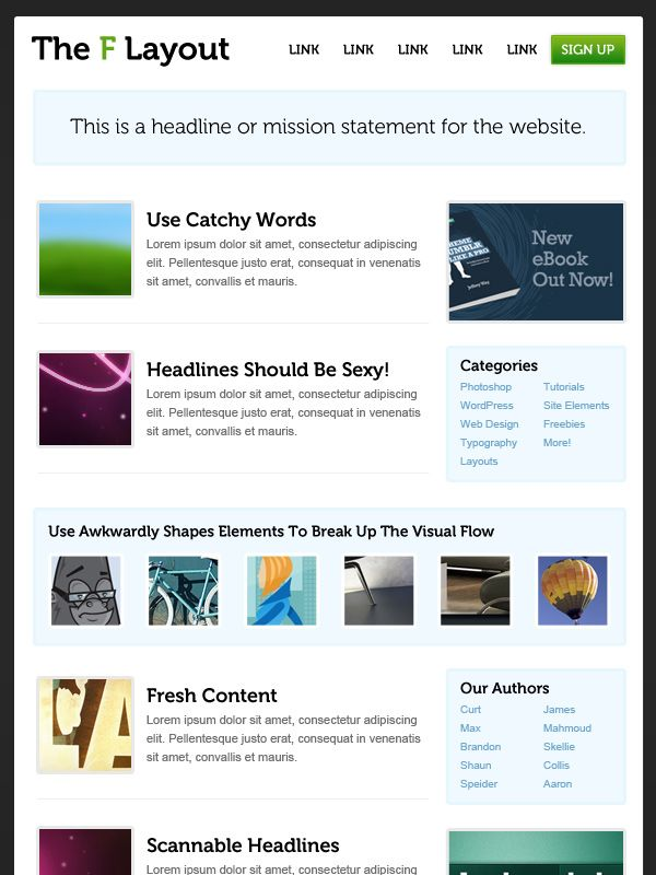 How To Design Websites That Mirror How Our Eyes Work Web Design Website Design Layout