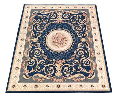 Tappeto aubusson in viscosa valentine blu carpets