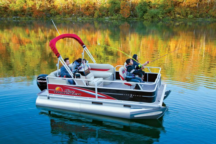 2015 bass buggy 16 foot fishing pontoon boat 2013 sun for Fishing pontoon boats