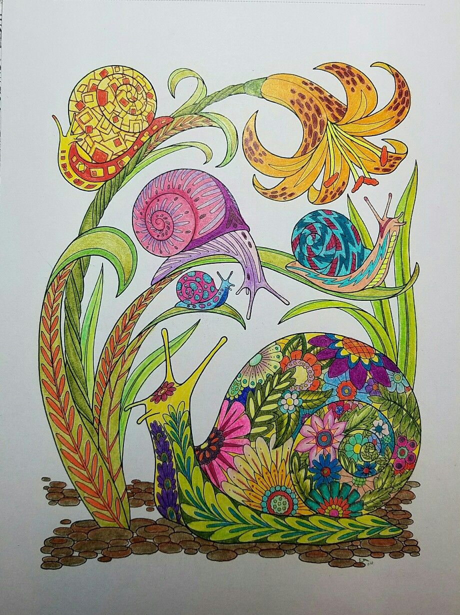 Garden Paths And Forest Trails Colored By Ellenetta Art Diy Art Coloring Pages