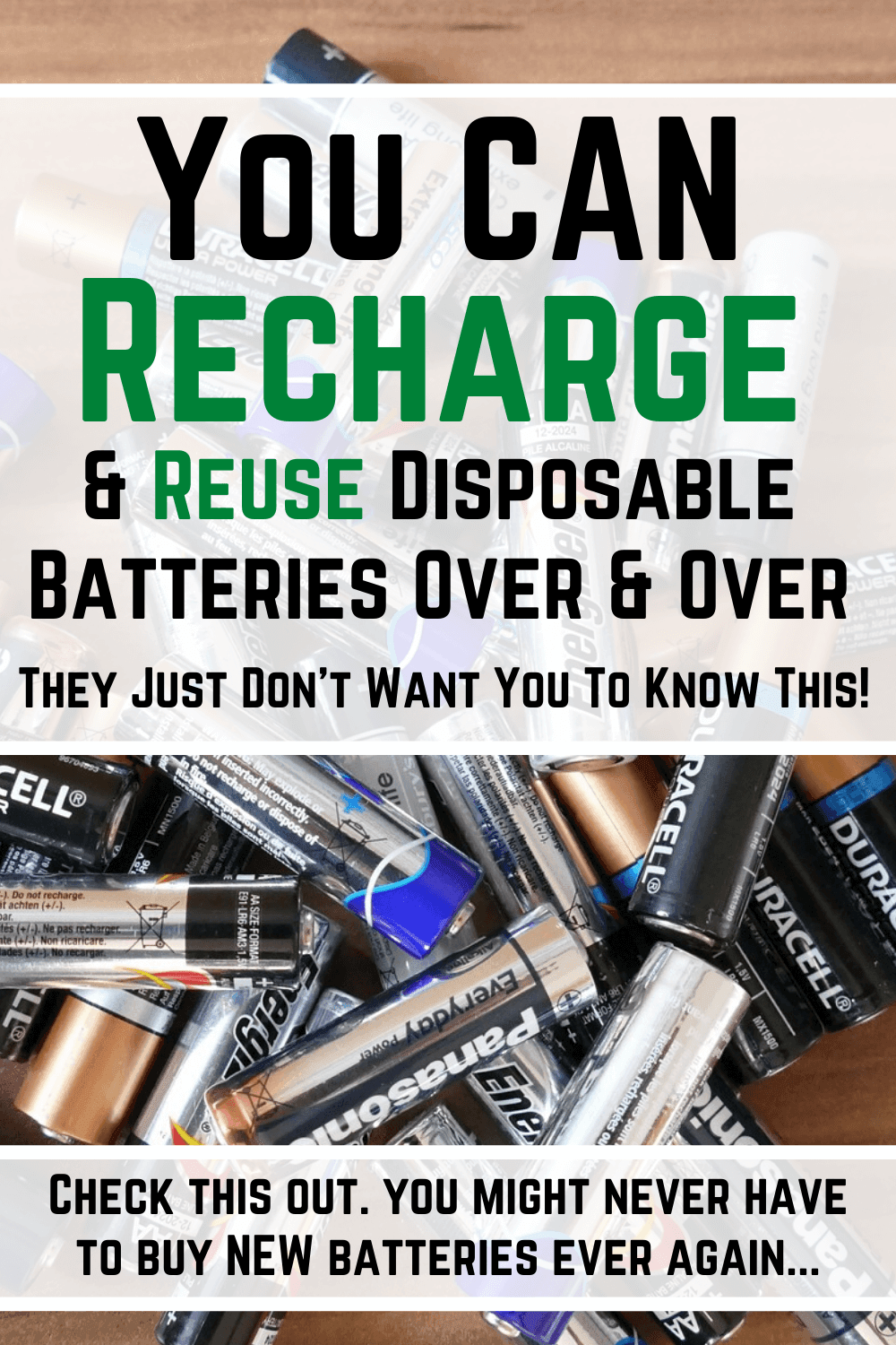 This Charger Can Recharge Disposable Batteries Learn More Save Money Survival Prepping Survival Tips Shtf Preparedness
