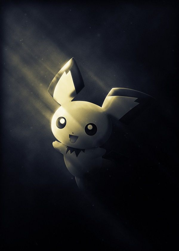 "Super Smash Bros. Ultimate Light Characters Pichu #Displate artwork by artist ""Danaydal"". Part of… | Displate thumbnail"