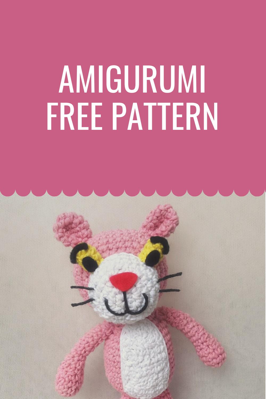 Free Amigurumi Patterns: Pink Panther | 1500x1000