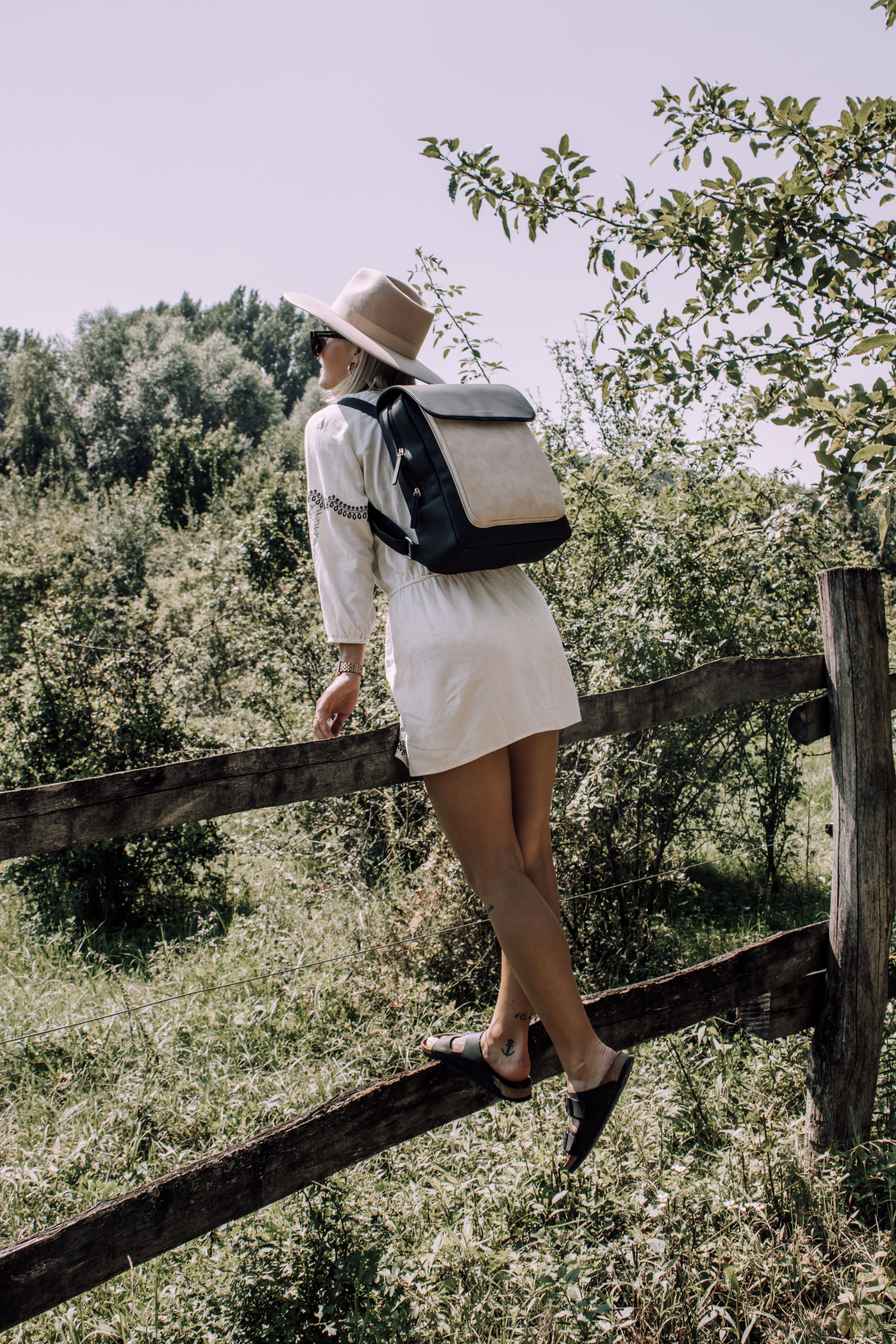 Tromso Cream Black Black Tromso Stylish Backpacks