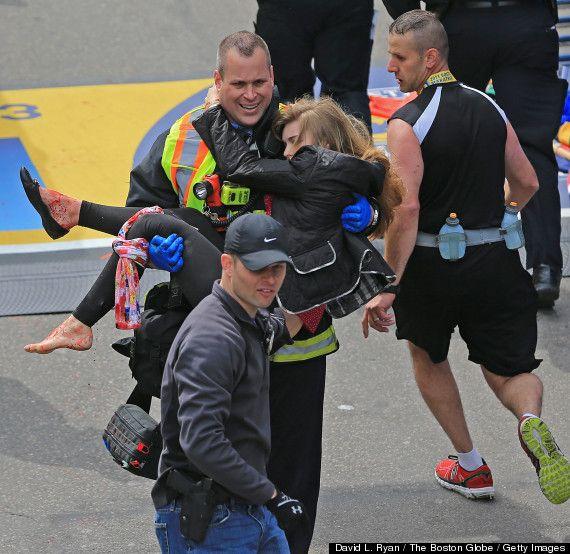 Look Saluting First Responders At The Boston Marathon Boston Marathon Bombing Boston Bombing Boston Marathon