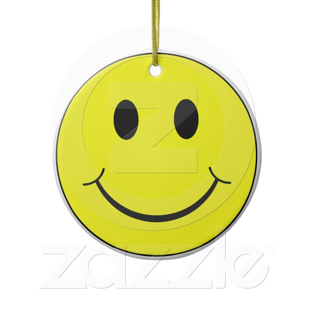 Happy Yellow Face Graphic Ceramic Ornament | Home | Pinterest