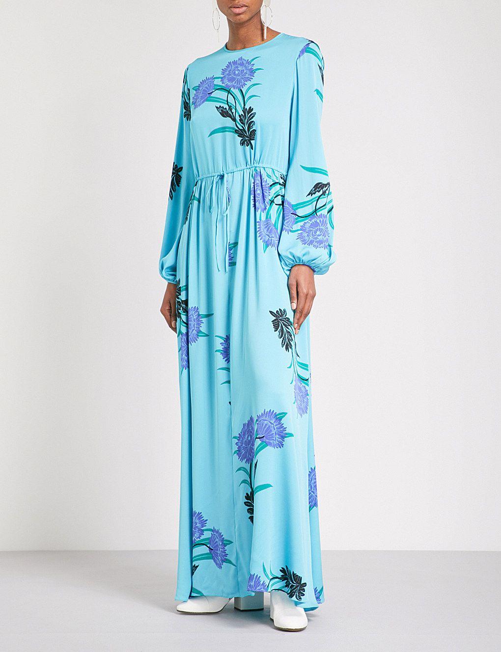 d7fbacc6394adc DIANE VON FURSTENBERG Floral-print stretch-silk maxi dress   Style ...