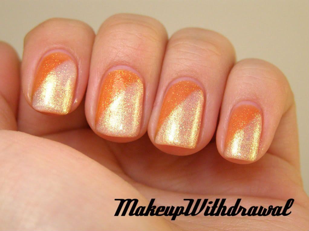 Day 2 Orange Nails With Images Orange Nails Nails Trendy Nails