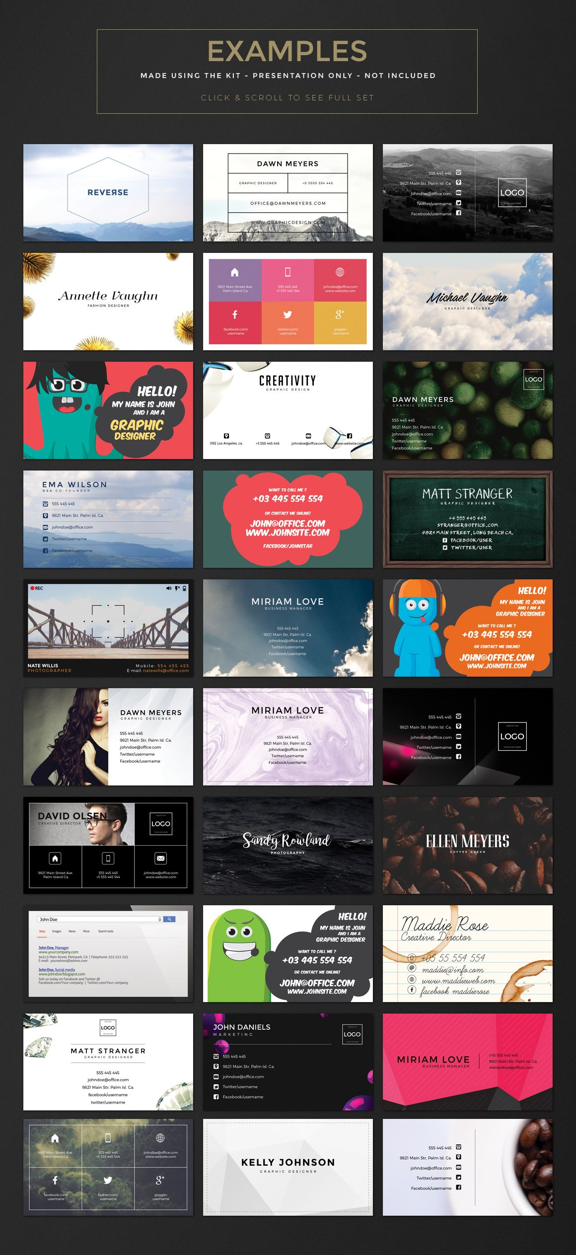 Business Card Creation Kit | Business cards, Awesome business cards ...