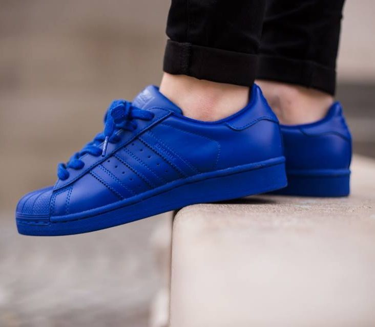 pharrell williams x adidas originals superstar 39 supercolor 39 blue sneakers adidas superstar. Black Bedroom Furniture Sets. Home Design Ideas