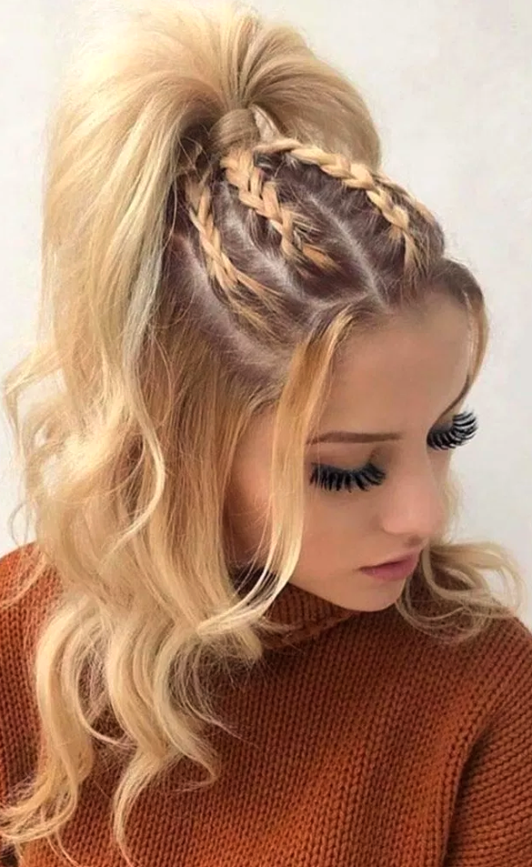 Easy Hairstyle Girls Girls Easy Hairstyle Cute Hairstyle Girls Quick Hairstyle For Girls C Cool Braid Hairstyles Medium Hair Styles Braided Hairstyles Easy