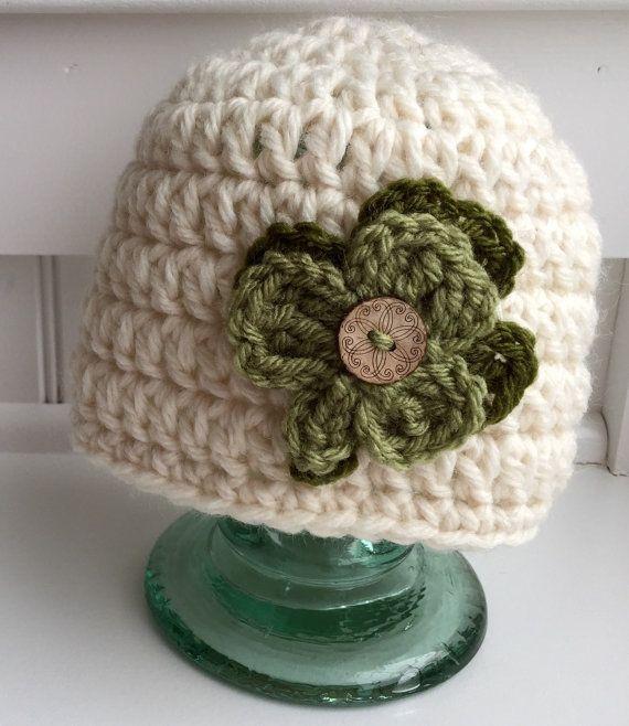 Crochet St. Patrick\'s Day hat/ Shamrock hat/ Crochet hat for baby ...