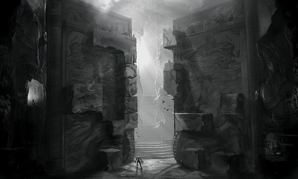 God of war iii the tartarus door environment pinterest posts the o 39 jays and of - Several artistic concepts for main door ...