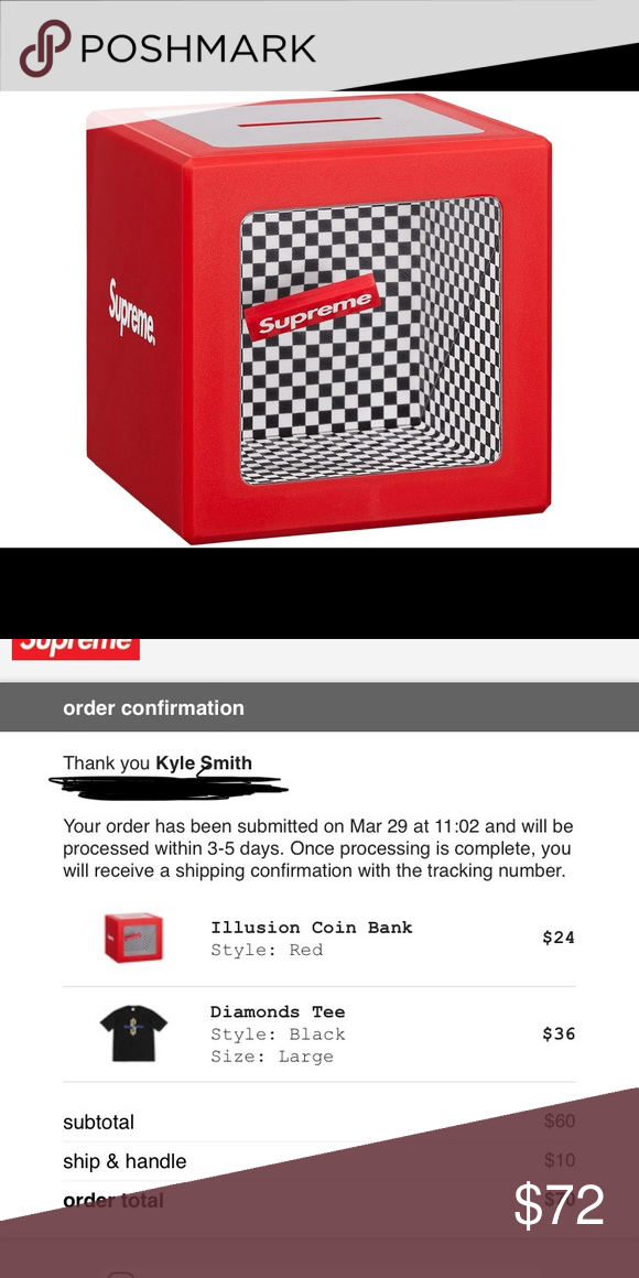 d9a8c198b86 Supreme Illusion Coin Bank Brand new still in the box supreme Coin bank  Dope checkered pattern with floating supreme logo Supreme Other