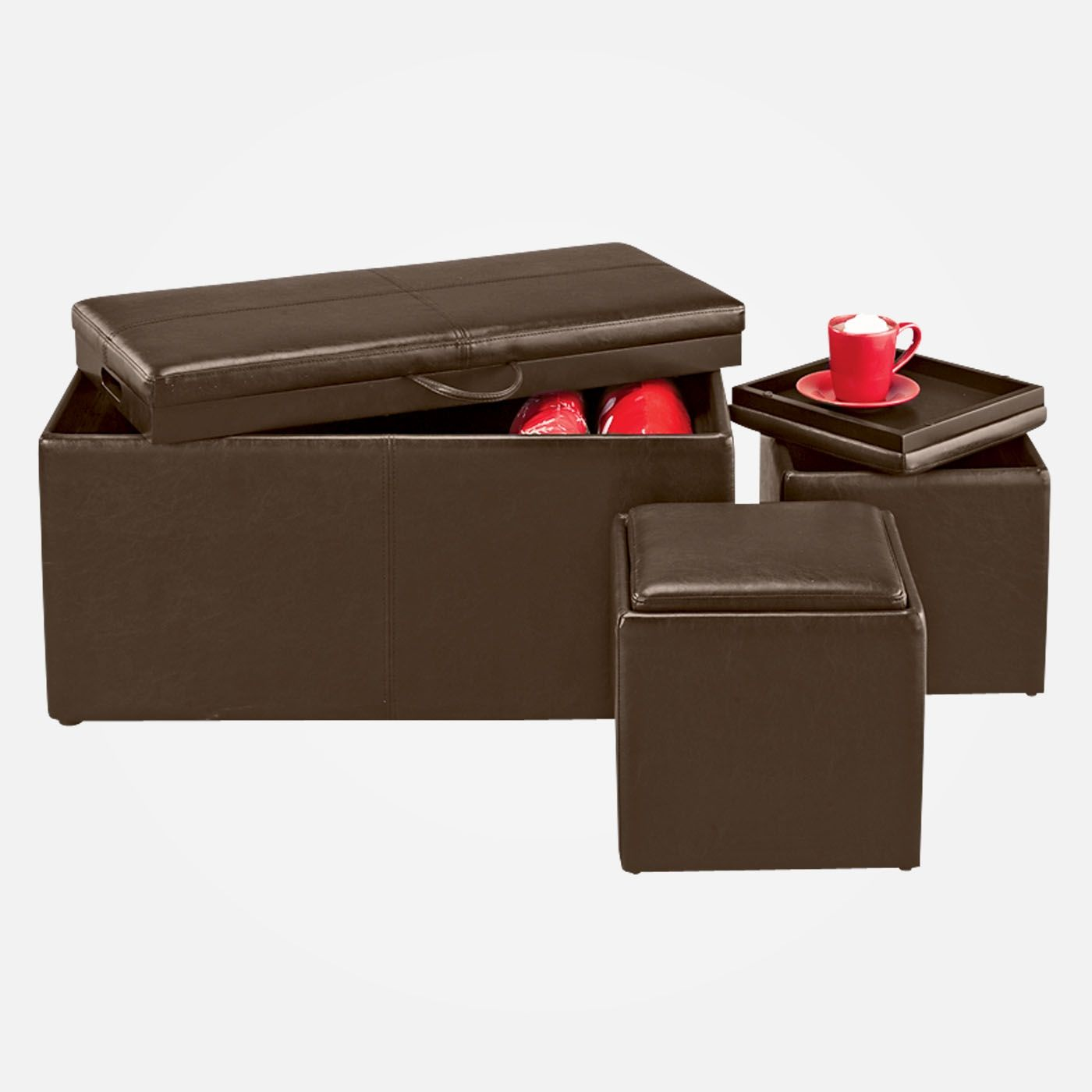 Ottoman Storage Set At Shopko On Sale For 125 Storage Ottoman Storage Ottoman Set