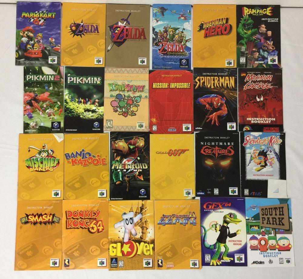 nintendo 64 instruction manual lot of 24 manuals only mario zelda rh pinterest com Nintendo Switch Super Nintendo