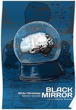 White Christmas Black Mirror Poster.Black Mirror White Christmas Poster By Edgarascensao
