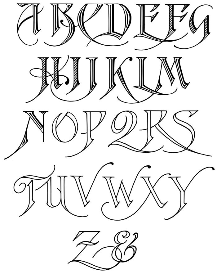 Free Calligraphy Alphabet  Calligraphy Alphabet Calligraphy And