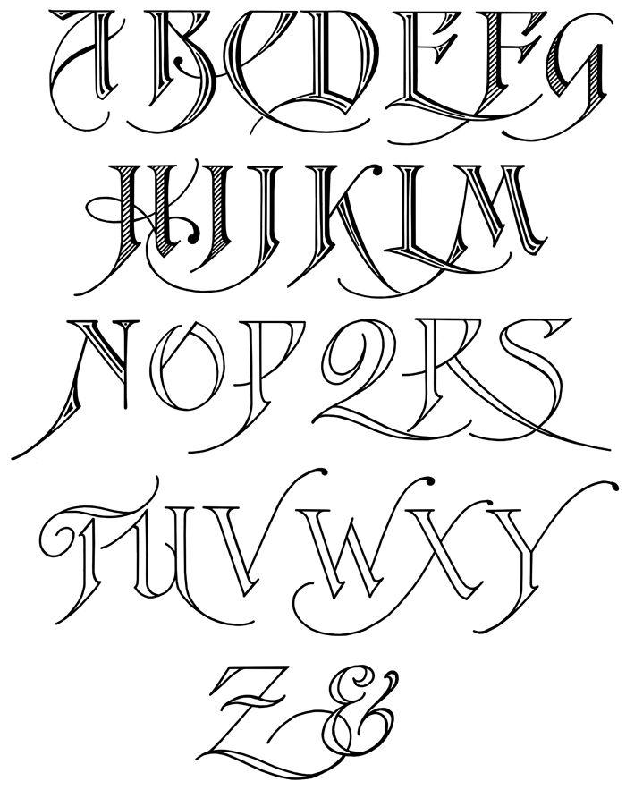 Free calligraphy alphabet