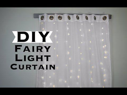 Diy Fairy Light Curtain And Curtain Holder Home Decor Wall