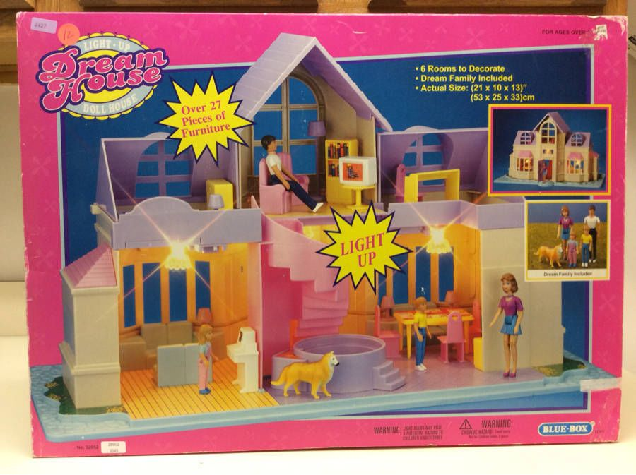 BLUE BOX LIGHT UP DREAM HOUSE DOLL HOUSE