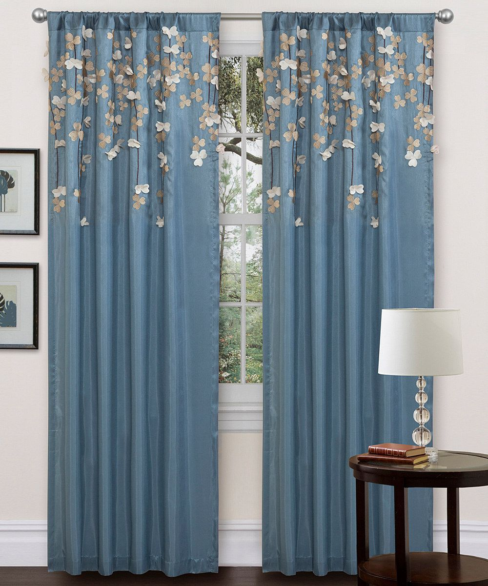 Black flower drops curtain panel daily deals for moms babies and