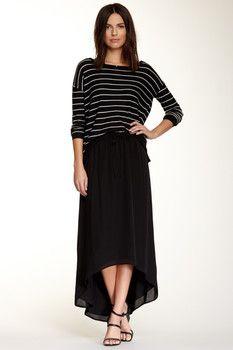 Joie Ametrine Hi-Lo Silk Skirt