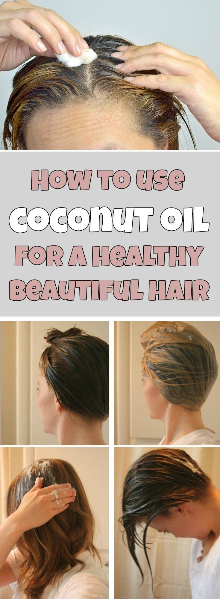 use coconut oil on your hair and skin hairstyles pinterest cheveux beaut et coiffures. Black Bedroom Furniture Sets. Home Design Ideas