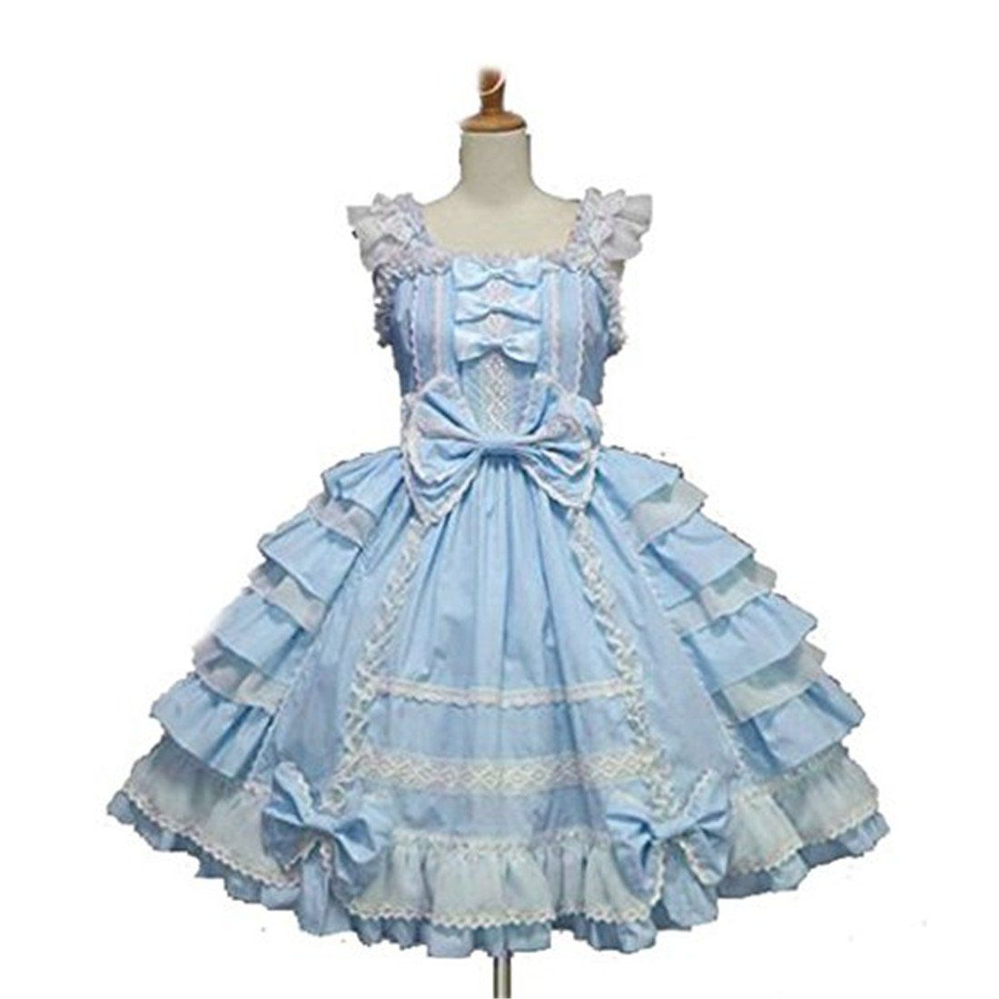 Amazon.com: Nouqi® Ladies Sweet Princess Skirt Court Lolita Dress ...