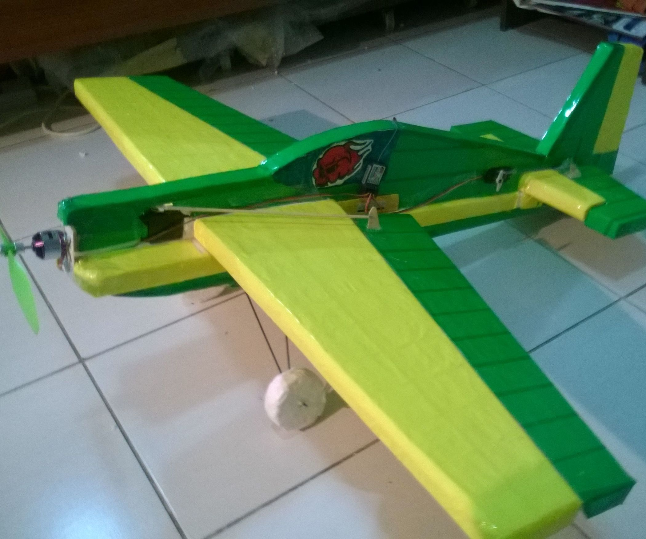 DIY Hand Throw Electric Slow Fly Trainer Beginner RC Airplane