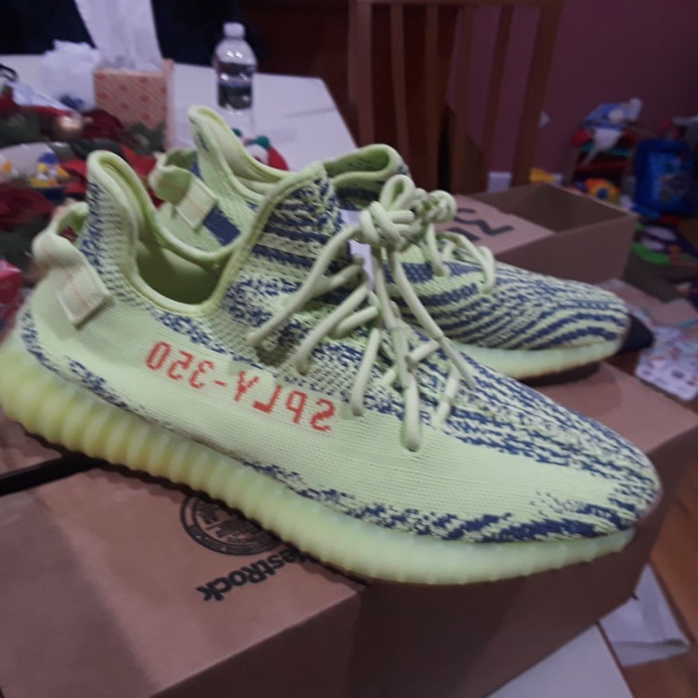 586951795 adidas yeezy boost 350 v2 semi frozen yellow  fashion  clothing  shoes   accessories  mensshoes  athleticshoes (ebay link)