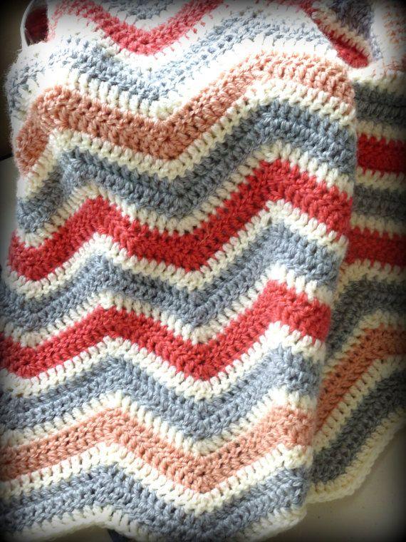 Crochet Chevron baby girl blanket | Crochet Throws, THinGs & STuff ...