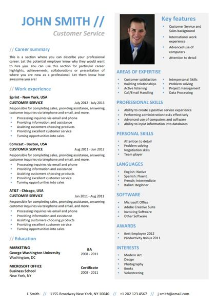 Find the Blue Functional Resume Template on wwwcvfolio - how to find resume templates on microsoft word