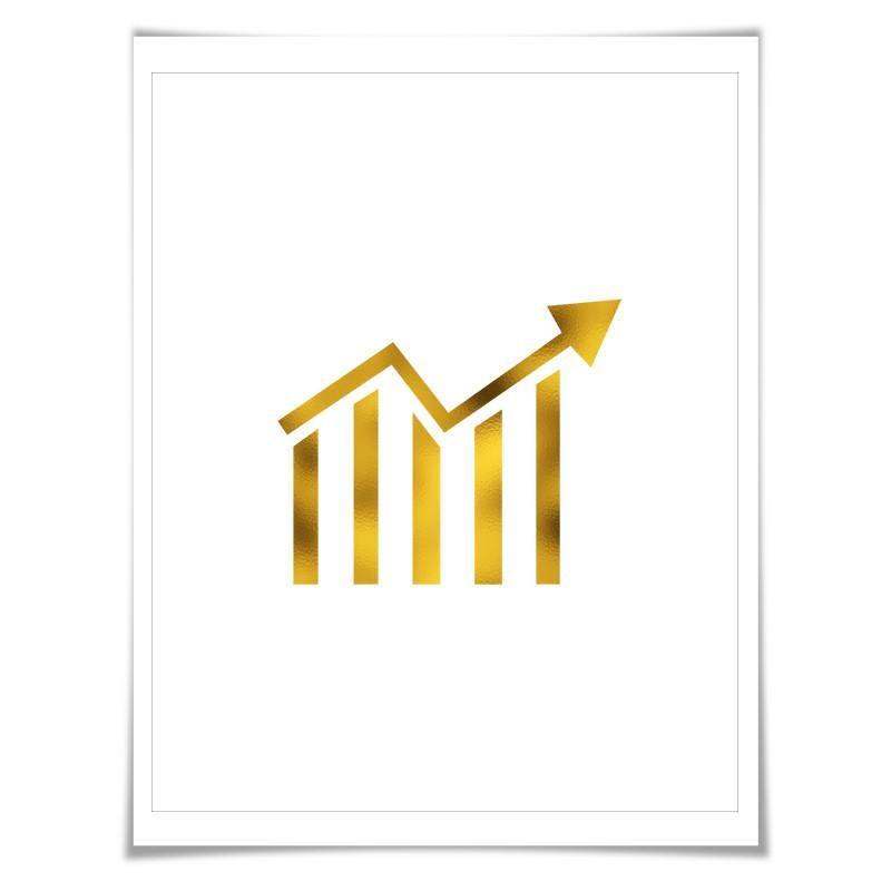Stock Ticker Gold Foil Art Print 7 Foil Colours3 Sizes Banking