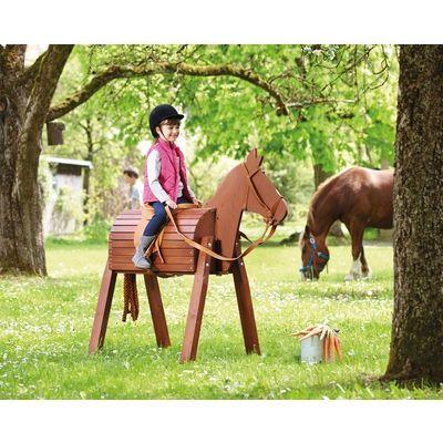 Holzpferd Wetterfestes Spielmaterial Draussen Spielen Outdoor Krippe Kindergarten Holzpferd Holzpferd Garten Holzpferd Bauen