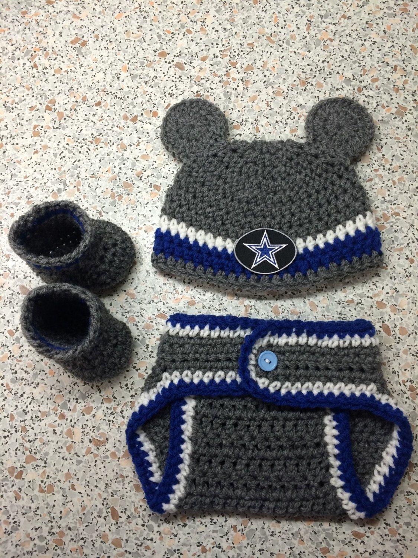 52cf087ba5e NFL Dallas Cowboy newborn baby boy crochet hat
