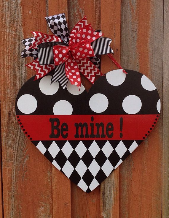 Be Mine Valentine Door Hanger Front Door Decor Valentine Decoration