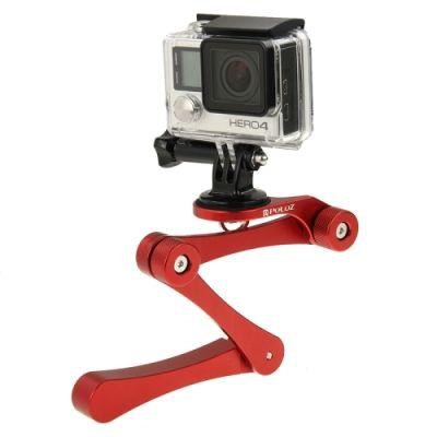 PULUZ CNC Foldable Selfie Stick Handheld Grip for GoPro HERO4 /3+ /3 /2, Xiaoyi, SJ4000, SJ5000, SJ6000(Red)