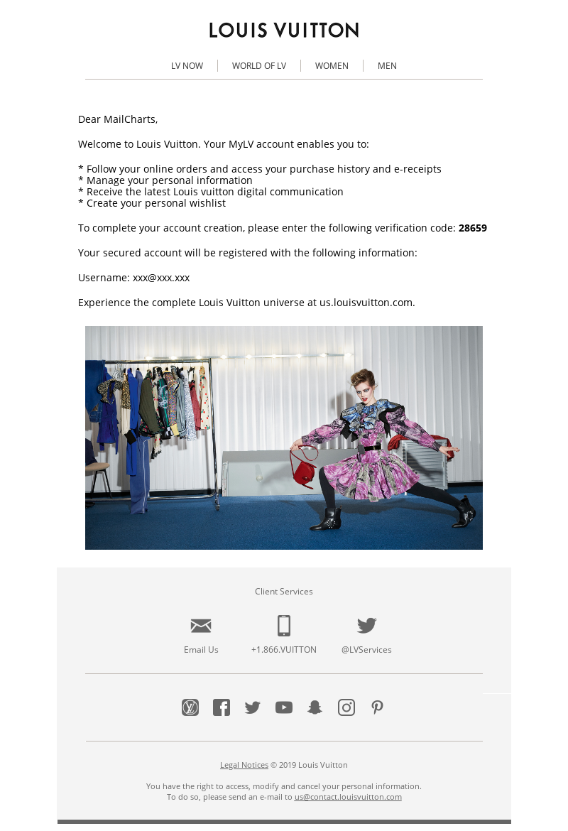 Email From Louis Vuitton Confirmation Email Template Email Design Louis Vuitton