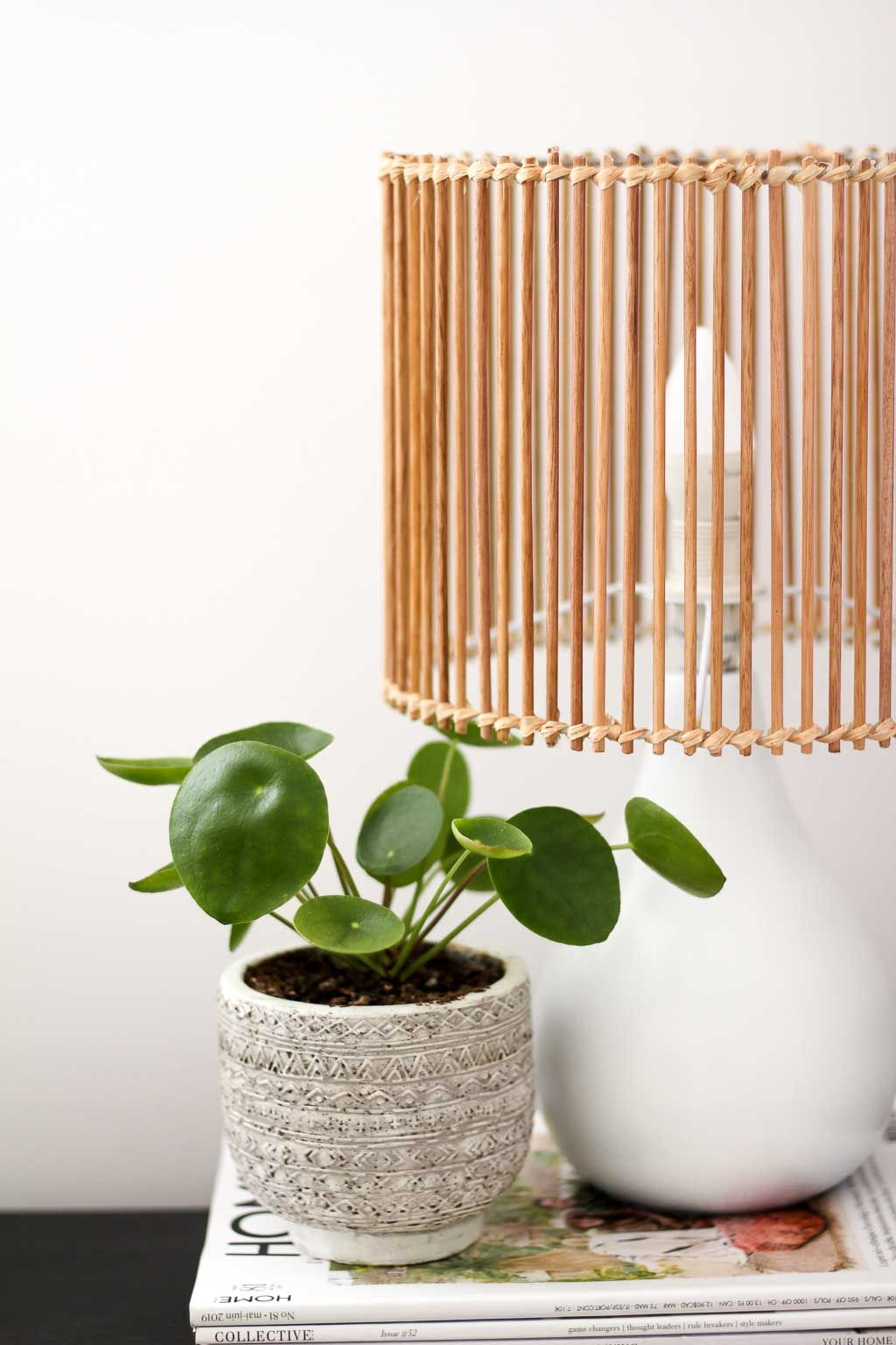 DIY Rattan Style Lamp Upcycle