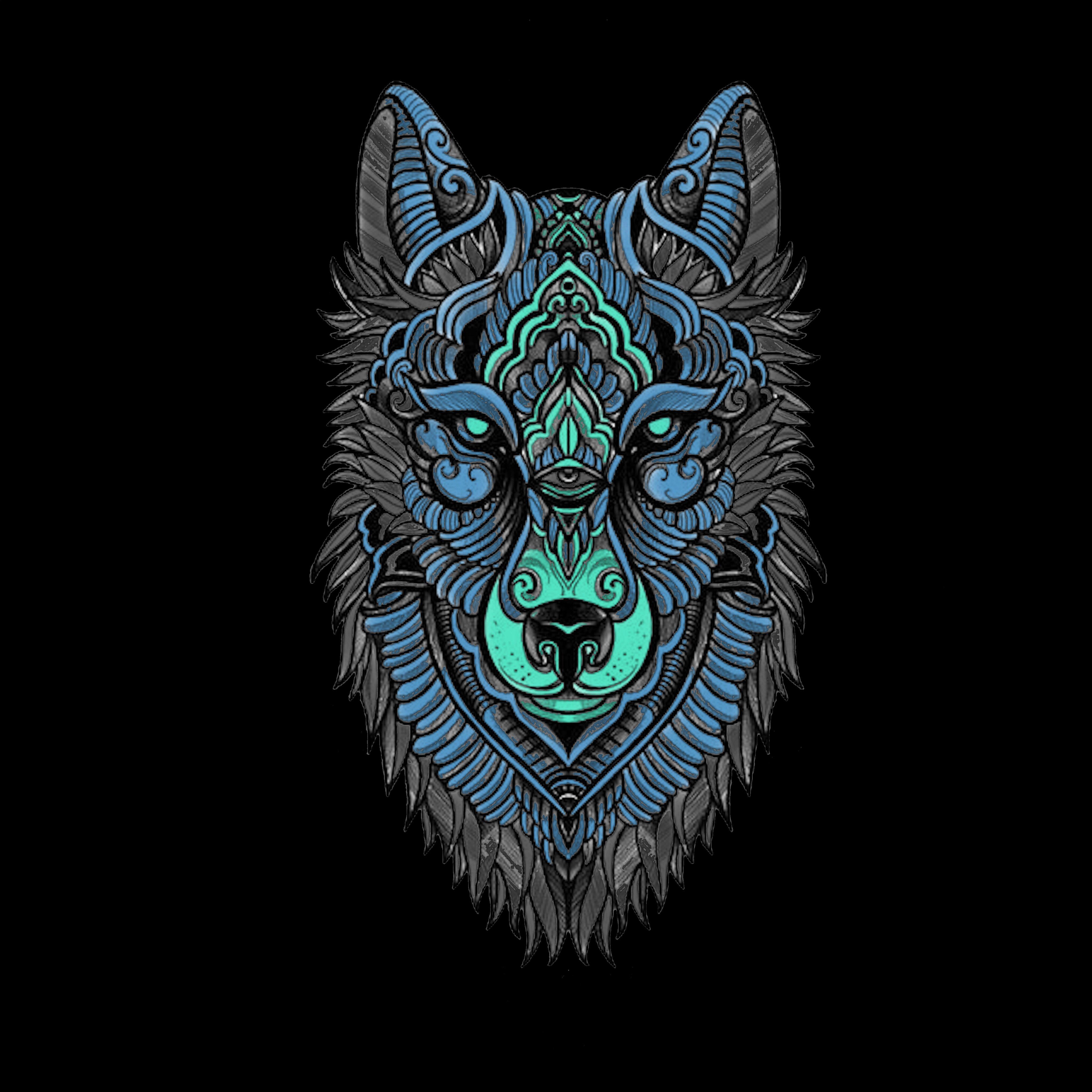 понимать, что картинка волк абстракция именно поэтому
