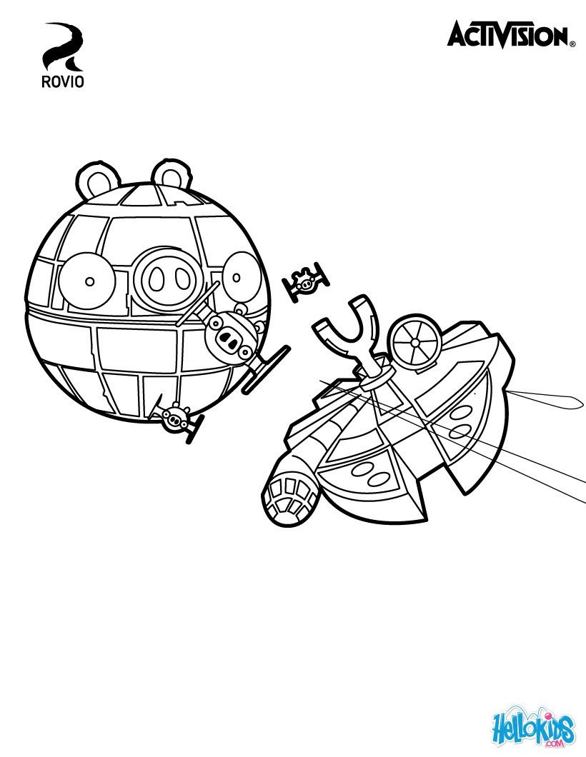 Angry Birds Takes The Role Of DS Darth Swindle Cute Coloring Page About