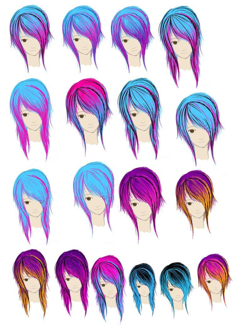 coloring your hair Emo hair color, Hair color crazy