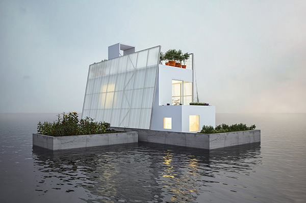Delicieux Carl Turneru0027s Floating House Design Responds To The Unique Challenge Of  Providing Safe Housing In Areas With Flood Problems.