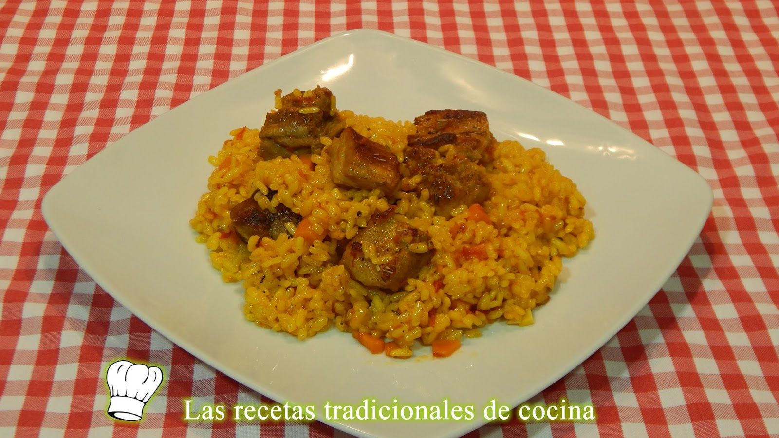 Arroz fácil con costillas adobadas - Recetas de cocina con sabor tradicional