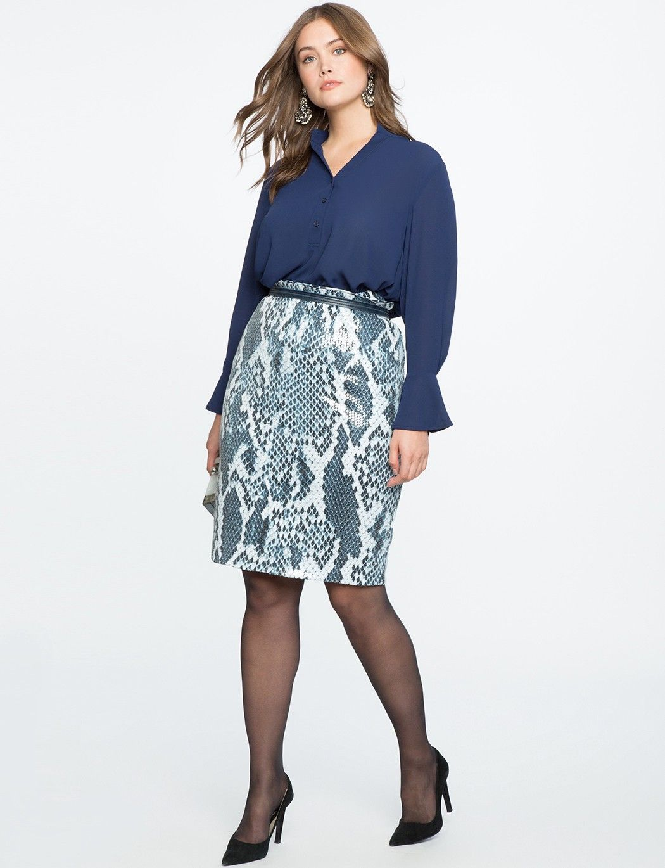 a5469c1a217 Eloquii Printed Sequin Pencil Skirt - 16