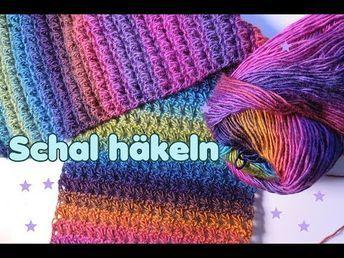 Einfachen Schal häkeln mit Dreiecksmuster - YouTube #vestidosparabebédeganchillo